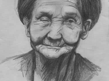 portrait of old lady