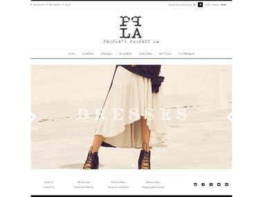 www.pplaclothing.com Ecommerce