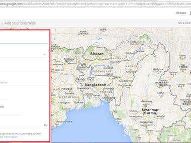Demo of add place in google local search