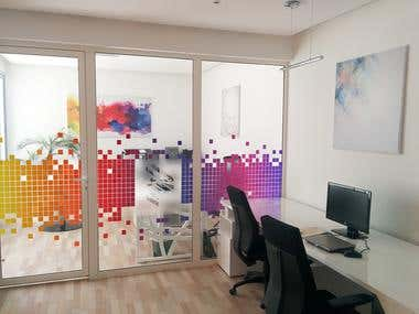 Design for Decorative Glass Partition Film