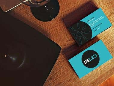 Deled Logo and card