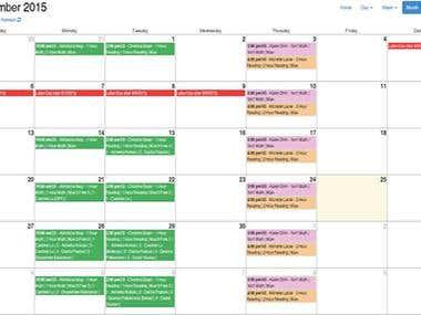Calendar With Filemaker