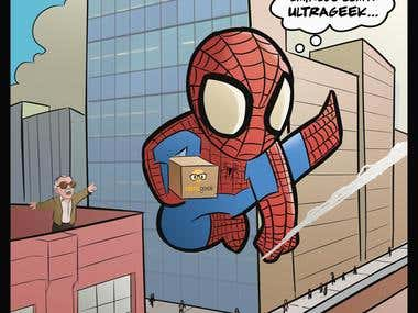Spiderman delivery