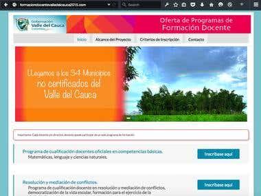 Inscripcion en línea a los programas de formación docente