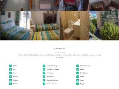 Responsive Wordpress Website with Apartment Booking