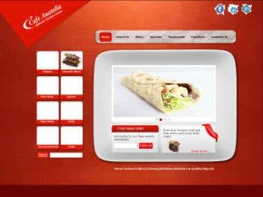 Webste for cafetoria