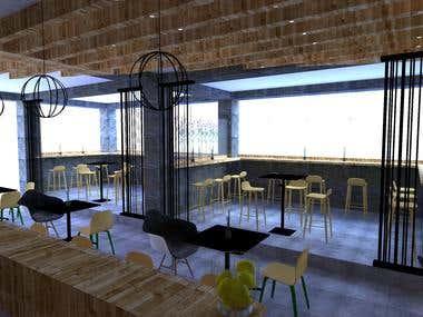 Coffee Shop Enterior Design