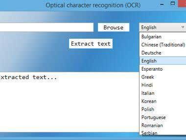 Desktop OCR application