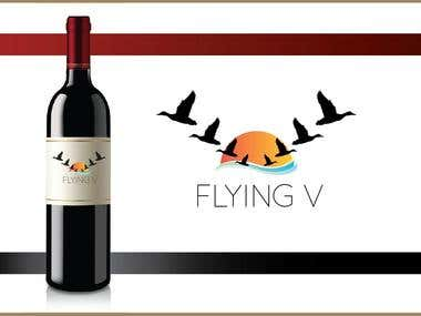 Wine Label Design for Flying V