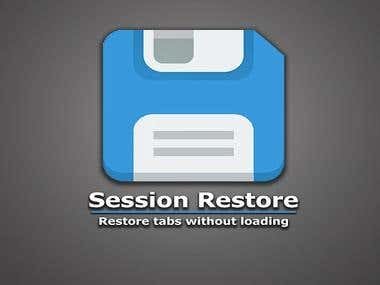 Session restore - chrome extension
