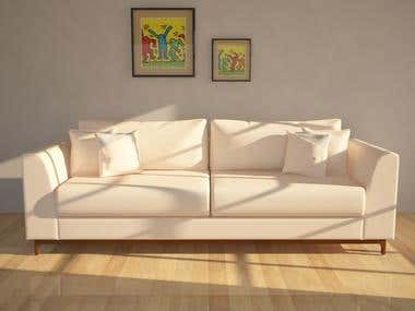 sofa and chair model and rendering