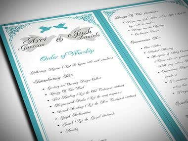 Wedding Program Design / Diseño de Programa para Boda