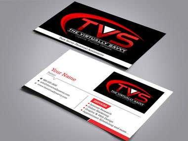 Bussiness Card Design for TVS