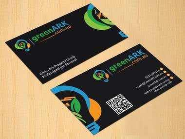 Business Card Design for Green ARK