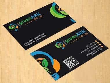 Business Card Design for Green ARK