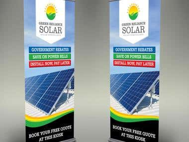 Roll Up Banner Design for Green-Reliance-SOLAR