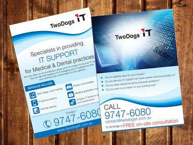 Flyer Design for two dogs IT