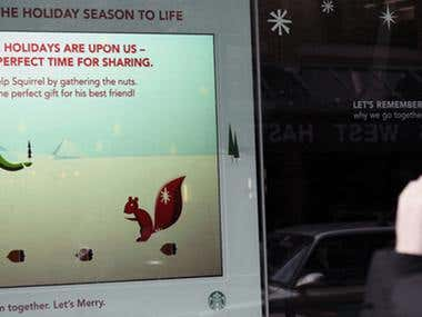Starbucks Interactive Display Windows