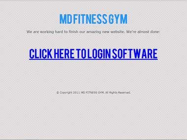 MD Fitness Gym Application