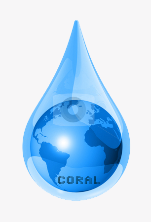 Logo Design for Coral Water Solution