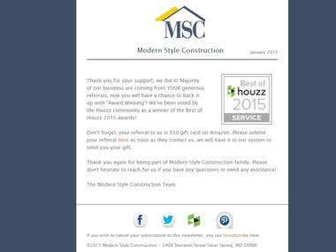 Html newsletter for MSC