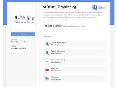 5X Google AdWords Certified