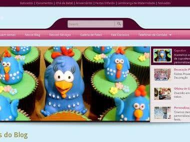 Blog WordPress sobre Cup Cakes