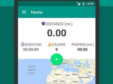 Android app GPS Cycling Ride BIke