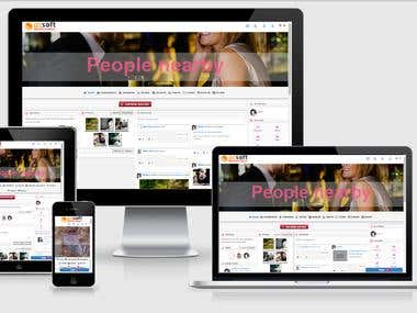oxsoft responsive  theme for oxwall and skadate