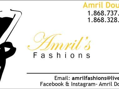 Business card - Amril\'s Fashion
