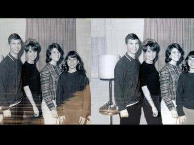 Old photo restoration and touch up ..