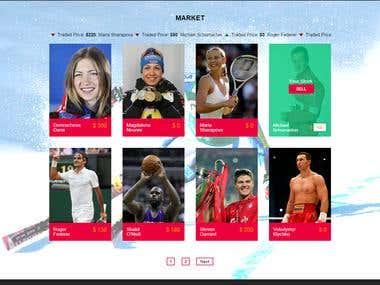 Stock Trading Game Website