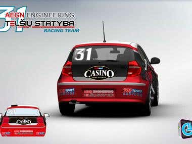 Racing car livery design for AEGN Engineering   - LITHUANIA