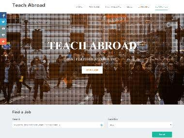 TEACH ABROAD Website