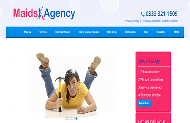 Maids Agency WordPress Website