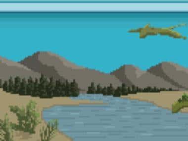 Jurassic Pixel Painting