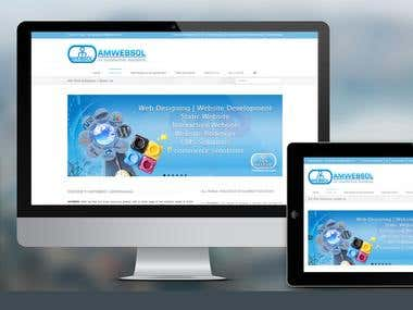 AMWEBSOL Responsive Web Design Development | Logo Grafx