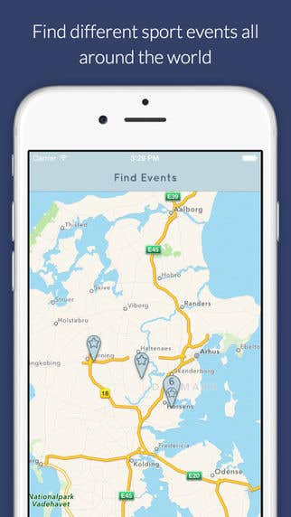 Sport event ios/android application