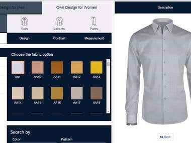 Online Shirt customization tool