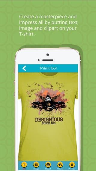 T-shirt designer iOS application