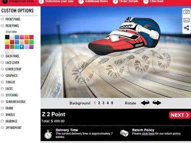 Shoes customization tool