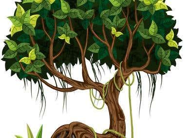 Cartoon Style Tree for Vega Game Studios
