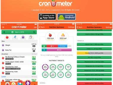 Android/iOS apps for cronometer.com