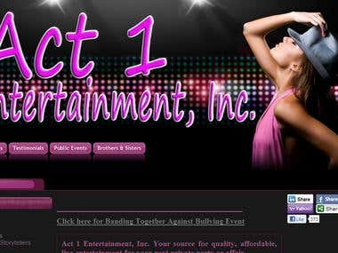 Act1entertainment website
