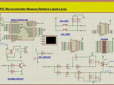 PIC Microcontroller to measure and display a relative liquid