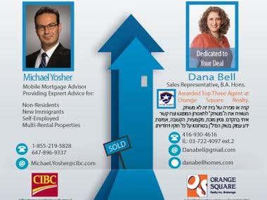 Dana Bell Realestate Agent Flyer Design