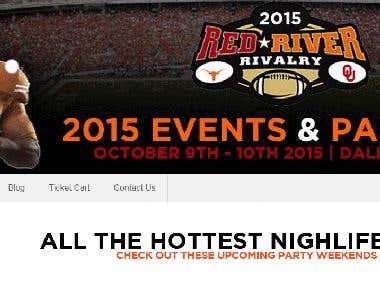 Event booking website