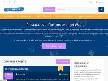 Création d\'un site de mise en relation Clients-Prestataires