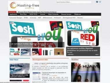 Création d\'un site d\'information High tech
