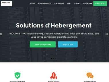 Création d\'un site internet d\'hébergement Web